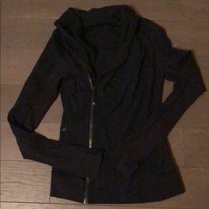 Lululemon asymmetrical jacket in black - like new